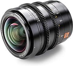 VILTROX S 20mm T2.0 ASPH Objetivo Fotograma Completo Gran Angular Manual Prime Lente de Película para L-montura Cámara Leica SL SL2 / Panasonic S1 S1R S1H