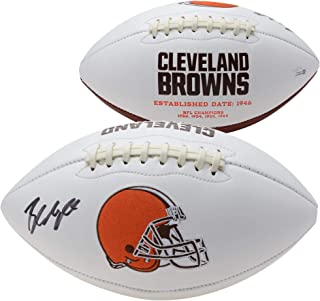 Baker Mayfield Cleveland Browns Autographed White Panel Football - Fanatics Authentic Certified - Autographed Footballs