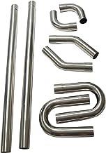 "SUPERFASTRACING 2.25"" T304 Stainless Steel DIY Custom Mandrel Exhaust Pipe Straight & Bend Kit"
