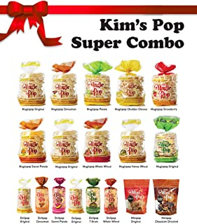 Kim's Magic Pop Super Combo Pack | Kim's Magic Pop + Kim's Deli Pop + Kim's Mini Pop | Keto, Vegan Snacks | 18 Pack | Low Carb, Sugar Free, Fat Free, Natural | Easy Bread, Chip, Cracker Replacement