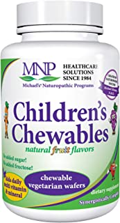Michael's Naturopathic Programs Childrens Chewables - Fruit Punch Flavor - 120 Vegetarian Wafers - Childrens Multivitamin ...