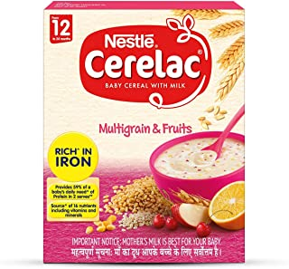 Cerelac Nestle Fortified Baby Cereal with Milk, Multigrain and Fruits - From 12 Months, 300g BIB Pack