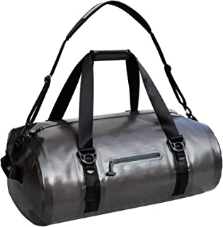 MIER Waterproof Duffel Bag Airtight Dry Bag for Kayaking, Boating, Beach, Rafting, Motorcycle, Travel, Hiking, Camping, Outdoor Adventure, 40L 90L, Grey