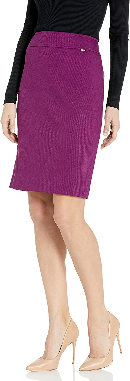 Tahari ASL Women's Wide Waistband Double Back Vent Pencil Skirt