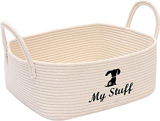 Morezi Panier et Boîte de rangement, lit de chien, panier pour chien, panier de rangement enfant, panier décoratif, beige