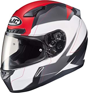 HJC Unisex Adult Full Face CL-17 Omni Motorcycle Helmet (MC-1SF White/Red/Grey,  X-Large)