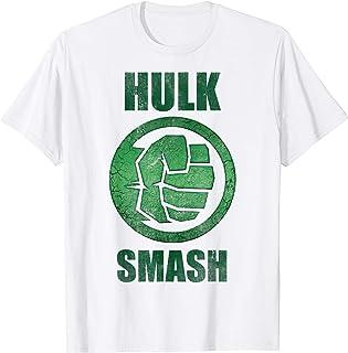 Marvel Hulk Smash Fist Circle Logo Green Stone Poster Camiseta