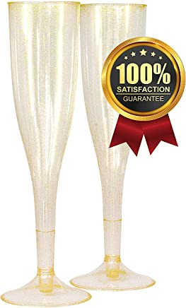 Amazoncom Wedding Decorations Plastic Champagne Glasses Wine
