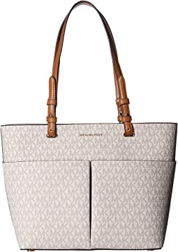 e2d346c78d54 MICHAEL Michael Kors. Jet Set Item East/West Top Zip Tote. $248.00.  Vanilla/Acorn