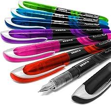 Cebra Fuente - Desechables Pluma Estilográfica - una de Cada Colorido Tinta - Pack de 7