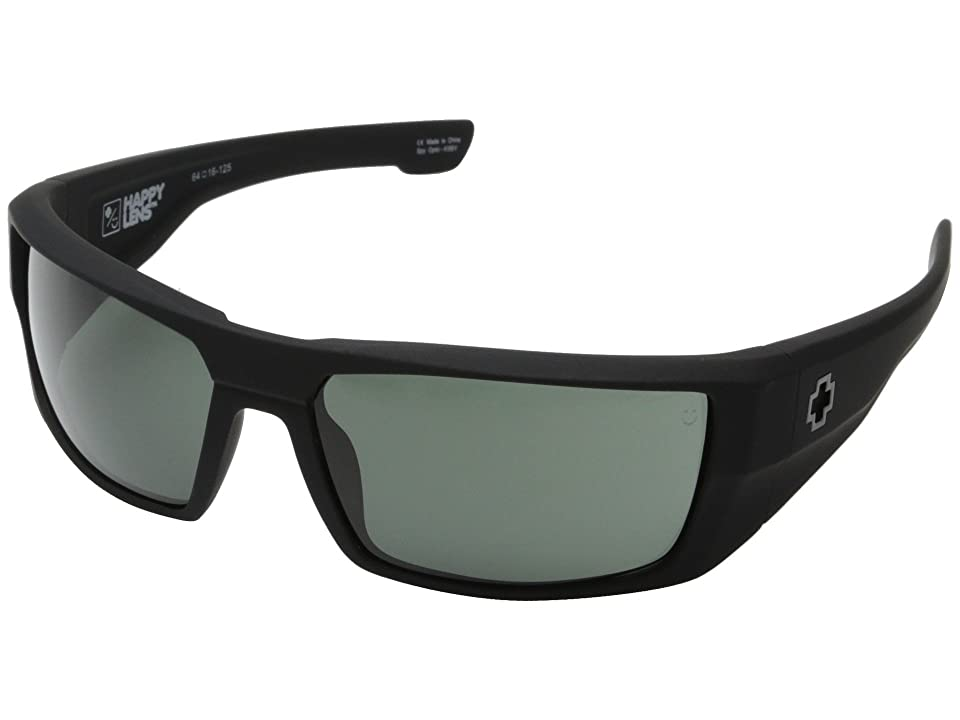 Spy Optic Dirk (Soft Matte Black/Happy Gray Green) Sport Sunglasses