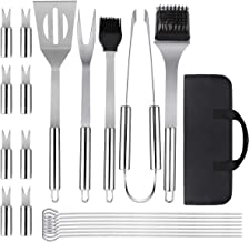 Lehatori BBQ Grill Accessories, Professional Grilling Barbecue Utensil Stainless Steel Grilling Tool Kit with Carry Bag for Men Women Smoker Outdoor Camping Backyard and Kitchen