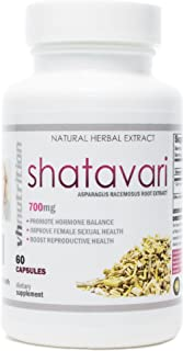 Shatavari | 700mg Asparagus Racemosus Capsules | Female Vitality & Rejuvenation | Helps to Naturally Balance Estrogen Production | VH Nutrition | 30 Day Supply