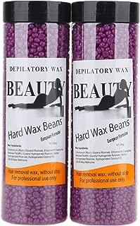 Bonjanvye Hair Removal for Men Hard Wax Strip Free Hard Wax Beans 800g Violet