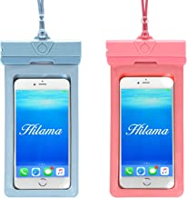 Hilama Universal Waterproof Phone Pouch 2 Pack Compatible for Samsung S10/S10 Plus/S9/S9 Plus/S8 iPhone Xs Max/Xr/X/8/8 Plus/7 Huawei P30 Pro/P30/P20 Pro/P20 and Moto LG up to 7 Inch