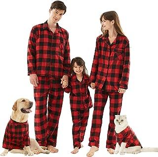 HOME RIGHT Family Christmas Pajamas Sets, 2pcs Long Sleeve Xmas Pjs Matching Couples Pajama Sleepwear for Mom Dad Boys Girls