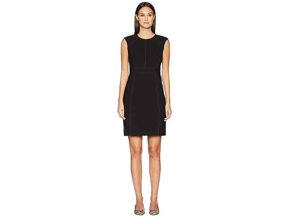 Kate Spade New York Out West Crepe Sheath Dress (Black) Women