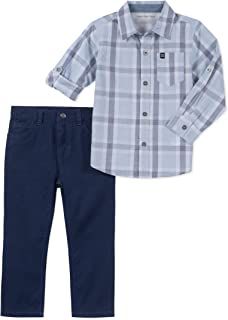 Calvin Klein Boys' 2 Pieces Shirt Set Pants