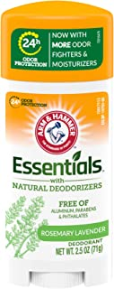 ARM & HAMMER Essentials Deodorant- Fresh Rosemary Lavender- Solid Oval- 2.5oz- Made with Natural Deodorizers- Free From Al...