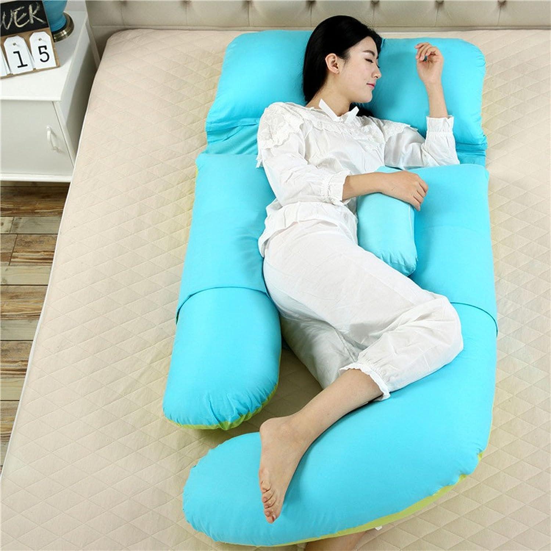 SYT Travel Travel Travel pillow U-förmige Schwangerschaft Schlafkissen Mutterschaft Körperkissen Frauen Schwangere Seitenschläfer Kissen, 180x110x75cm, grün blau B07FK7LCXD  Markenschmaus d4272a