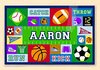Olive Kids Bedding Game On Personalized Placemat blue