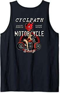 Devil Motorcycle Shop Rockabilly Pin Up Girl bike Tank Top