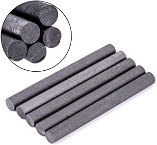 BoMiVa - 5pcs 99.99% Graphite Electrode Black Graphite Carbon Rods Cylinder Rods Bars For Industry Tools 100mmx10mm