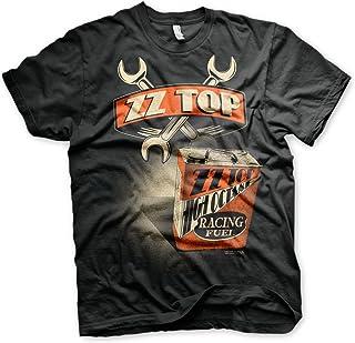 ZZ-Top Oficialmente Licenciado High Octane Racing Fuel 3XL,4XL,5XL Camiseta Para Hombre (Negro)