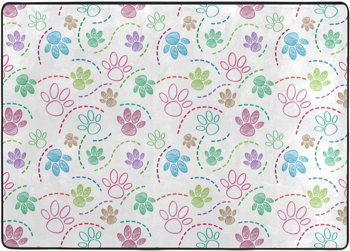 Dog Pet Foot Draw Area Rug Large Popular brand in the world Decoration Mat Sacramento Mall Carpet Home
