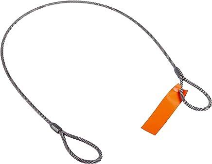 "Mazzella Mechanical Splice Wire Rope Sling, Eye-and-Eye, 6 x 37 IWRC, 5' Length, 3/8"" Diameter, 6"" Eyes, 2800 lbs Vertical Load Capacity"