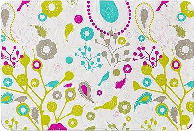 Kess InHouse Nicole Ketchum Bird Fantasy Memory Foam Bath Mat 17 by 24