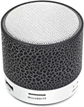CMDZSW Wireless Portable Bluetooth Speaker Crack LED USB Radio FM MP3 Cell Phone Stereo Speaker (Color : Black) photo