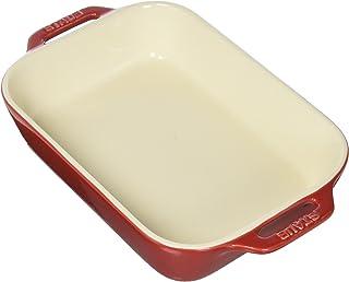 STAUB Ceramics Rectangular Baking Dish, 10.5x7.5-inch, Cherry