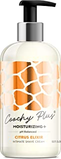 Coochy Plus Intimate Shaving Cream CITRUS ELIXIR For Pubic, Bikini Line, Armpit and more - Rash-Free With Patent-Pending MOISTURIZING+ Formula – Prevents Razor Burns & Bumps, In-Grown Hairs, Itchiness