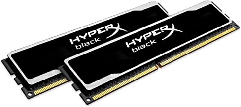 HyperX 8GB Kit (2x4GB) 1600MHz DDR3 PC3-12800 CL9 DIMM Desktop Memory, Black KHX16C9B1BK2/8