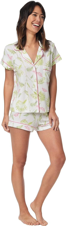 The Cat's Pajamas Butterfly Palm Pima Knit Short Set