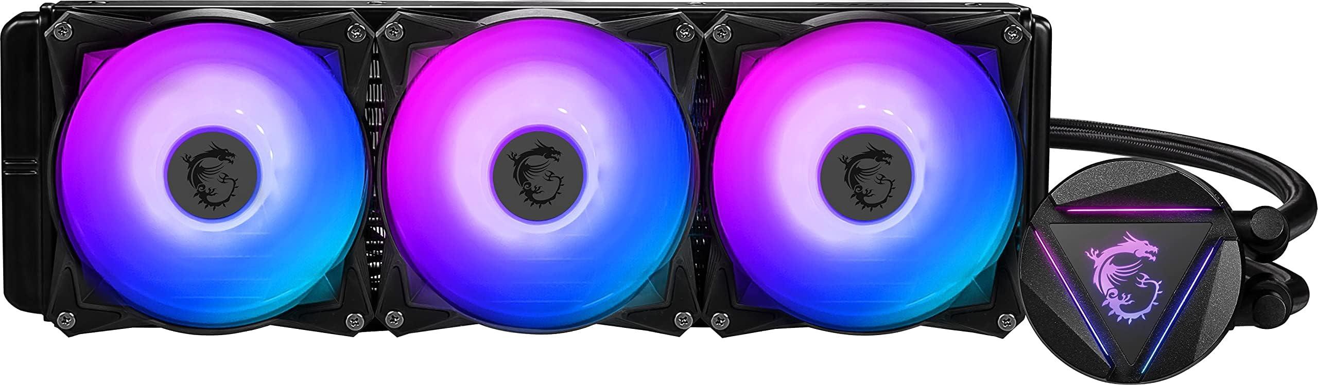MSI MAG Series RGB CPU Liquid Cooler (AIO): Rotatable Blockhead Design, 360mm Radiator, Triple 120mm RGB PWM Fans, MAG CORELIQUID 360R