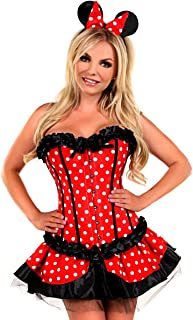 Women's 3 Piece Miss Mouse Costume