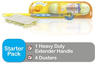 Swiffer Dusters Heavy Duty Super Extender Handle Starter Kit (Packaging May Vary)