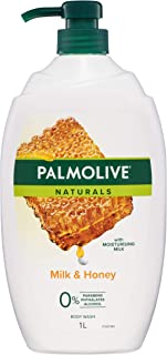 Palmolive Naturals Rich Moisture Soap free Shower Milk Body Wash Milk & Honey 1L