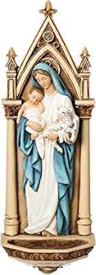 """Roman - 7.75"""" H Mary W/Child Water Font"""