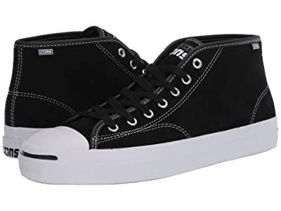 Converse Skate Jack Purcell Pro Suede Mid (Black/White/Black) Men