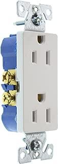 Hubbell RRD15WZ Duplex Decorator Receptacle Outlet, Non-TR, 15-Amp, 120-Volt, White, (30-Pack)