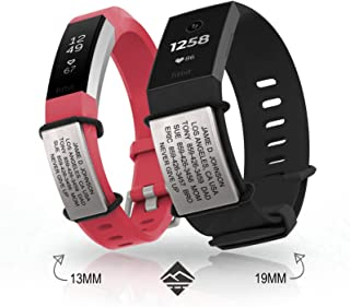 Official Sidekick for Fitbit + Garmin - Identification Bracelet and Sport ID for Athletes