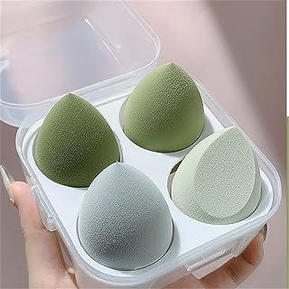 Yoga mat 4pcs Makeup Blender Cosmetic Puff Makeup Sponge with Storage Box Foundation Powder Sponge Beauty Tools Women Make...