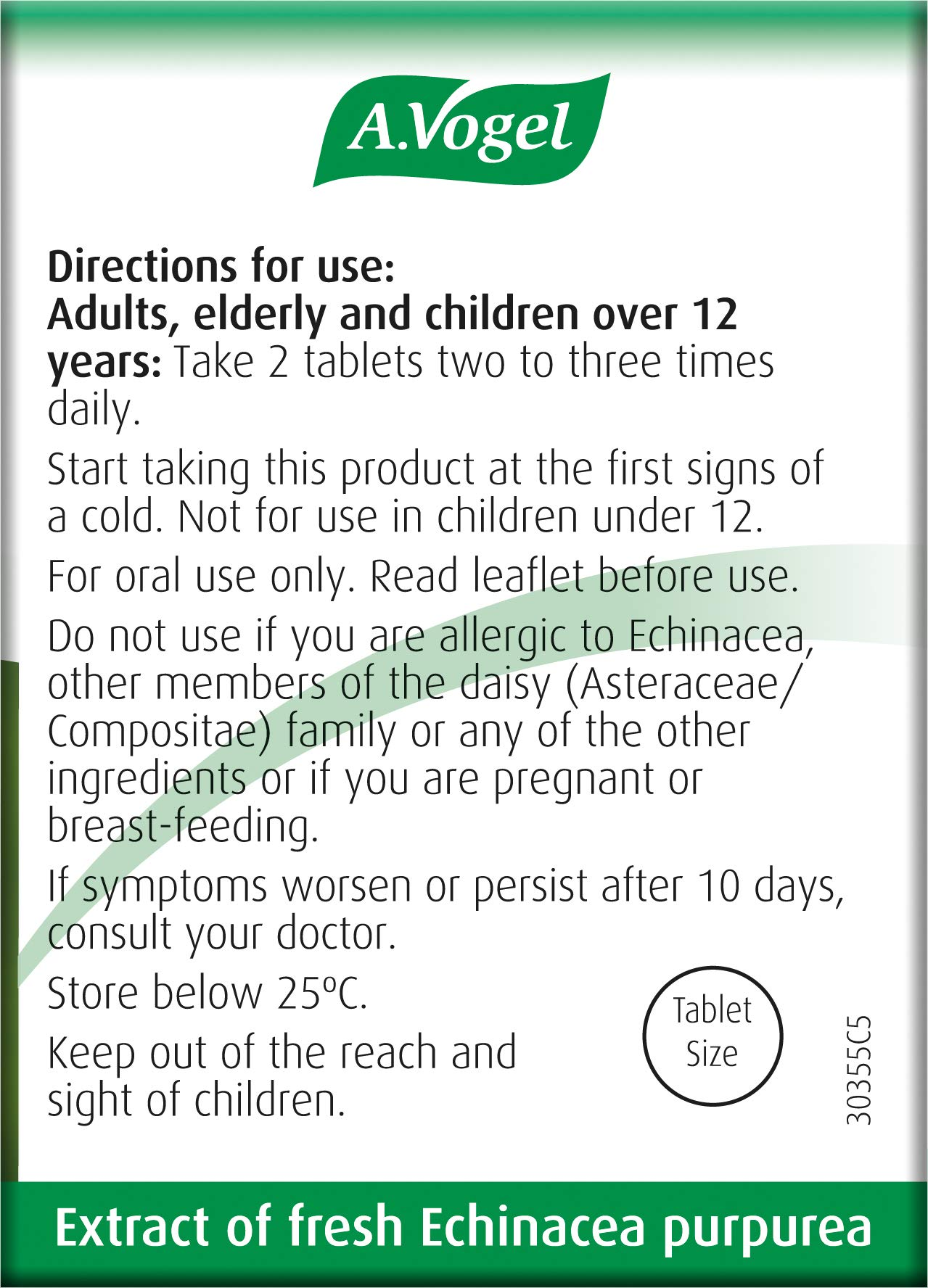 A.Vogel Echinaforce Echinacea Tablets | Relieves Cold & Flu Symptoms by Strengthening the Immune System | 120 Tablets
