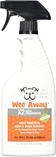 Wee Away X2 Dog Stain Odor Remover Concentrate Power Formula Pet Dog Spray, 16 Ounces Per Bottle