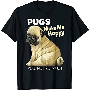 My Best Friend Is My Pug Printed T-Shirt Dog Love Passion