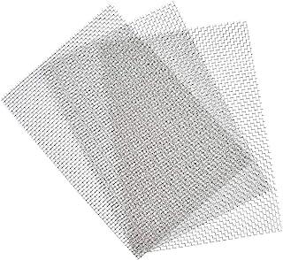 TIMESETL 3 piezas de malla de alambre tejido de acero inoxidable Hoja de malla metálica a prueba de roedores Agujero de 3,...