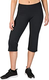 Women's Fitness Essentials Regular Fit Capris, (Caviar, S)